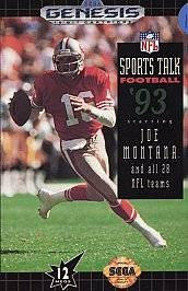 Sports Talk Football 93 Starring Joe Montana Sega Genesis, 1992