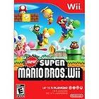 NEW FACTORY SEALED SUPER MARIO BROS. WII VIDEO GAME UP TO 4 PLAYERS