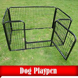 Heavy Duty 4 Panels Pet Playpen Dog Play Exercise Pen Cat Fence