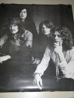 Led ZeppelinB&W Poster / Orig. members / Exc. new cond.