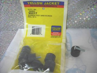 Yellow Jacket Recovery Unit Model 95760, Rubber feet