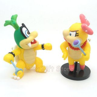 Super Mario Bros Wii IGGY KOOPA & Wendyo KOOPA Posable Action