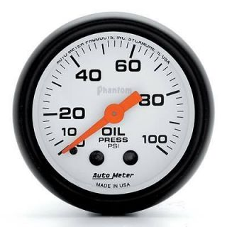 Auto Meter 5721 Phantom Mechanical Oil Pressure Gauge 2 1/16 Dia