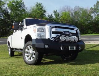 New Road Armor Style Winch Front Bumper 2011 2012 Ford F250 F350 Super
