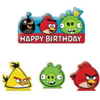 ANGRY BIRDS 2 CUPCAKE EDIBLE CAKE IMAGE TOPPER 12 PER SHEET