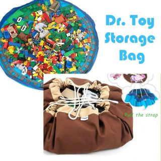 Toy Storage Bag Toys cleanup For Lego,blocks, dolls Play Mat For Kids