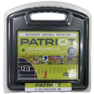 PATRIOT SOLAR GUARD 50 FENCER★ ELECTRIC FENCE ENERGIZER CHARGER