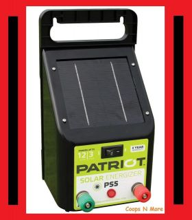 PATRIOT PS5 SOLAR FENCER★ ELECTRIC FENCE ENERGIZER CHARGER