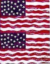 Stars and Stripes American Flags Quilt Fabric 437R