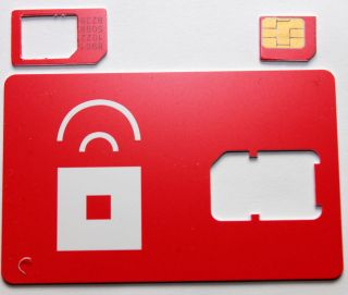 Red Pocket Mobile MICRO SIM Card GSM Prepaid for iPhone 4. Works with