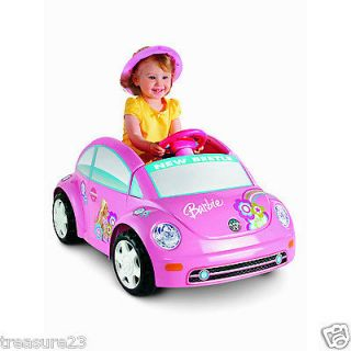 FISHER PRICE POWER WHEELS BARBIE VOLKSWAGEN NEW BEETLE P6830 *NEW*