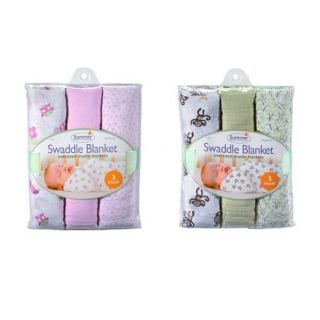 Summer Infant Swaddle Me Baby Swaddling Blanket Extra Large Muslin