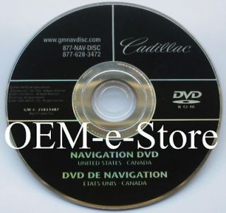 2007 2008 2009 2010 Cadillac Escalade Hybrid Navigation DVD Map Disk U