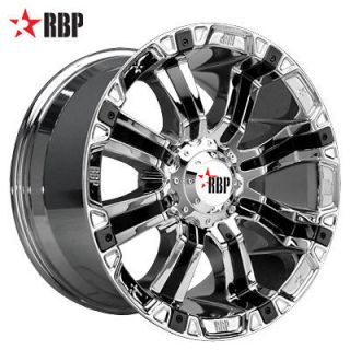 18 RBP 94R 18 inch Chrome Truck OFFROAD Rims Wheels & NITTO TIRES