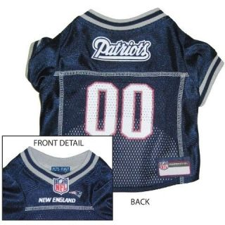 New England PATRIOTS BLUE MESH Pet Dog JERSEY with NFL PATCH XS S M L