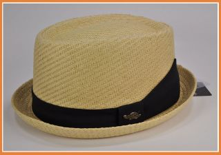 Straw Cool Summer Spring Pork Pie Fedora Upturn Brim Hat Cap Natural