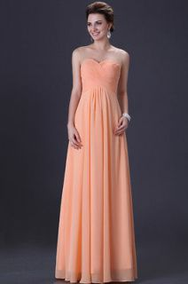 Sleeveless Bridesmaid Wedding Party Gown Prom Ball Evening Dress