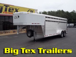 New 2012 CM All Aluminum Stock/Horse Trailer 7x20 Gooseneck in GA