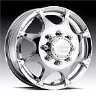 VISION DUALLY CHROME WHEELS FORD CHEVY DODGE 16 F350 8 ON 6.5/ 8 ON