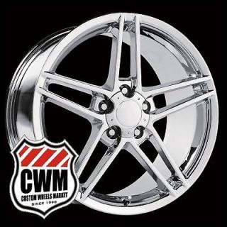 18x9.5 Corvette C6 Z06 Style Chrome Wheels Rims fit Corvette C4 1988
