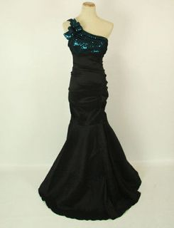 BETSY & ADAM $175 Black / Teal Prom Dress Evening Gown NWT Avail Size