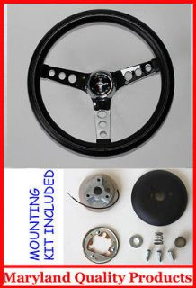 1965 1969 FORD MUSTANG GRANT BLACK STEERING WHEEL CAST PONY 13 1/2
