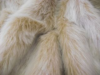 Luxury Faux Fur Fabric ANTELOPE FOX   All Sizes Bulk Discounts FREE