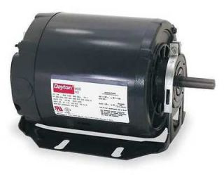 Dayton Motor 1/3 HP 1400 1800 RPM 230V Open Dripproof Split Phase CW