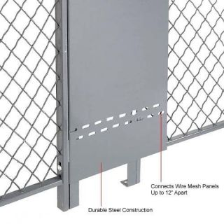 Wire Mesh Partition   Adjustable Gap Filler Panel for 8 ft Wire Mesh