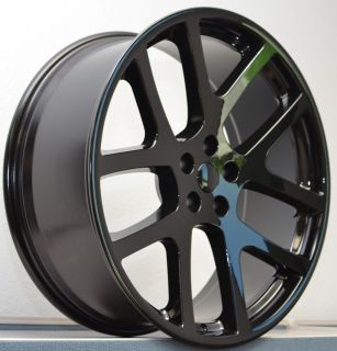22 Staggered Viper SRT8 300C Charger Magnum Wheels Rims Gloss Black