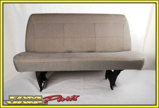 Ford Econoline Van Bench Seat GREY 3 Person Seat Cloth Cargo or
