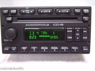 Ford Escape Radio 6 Disc CD Player Grand Marquis Audiophile 2003 2004
