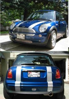 Mini Cooper Bonnet & Boot Stripe Stripes Decal Decals