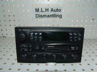 00 01 02 MERCURY VILLAGER NISSAN QUEST OEM CD RADIO PLAYER XF5F 19B1