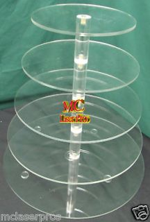 Tier 1/4 thick Acrylic Cupcake cake Tower Stand Wedding Party
