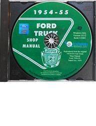 1954   1955 Ford Truck Shop / Service / Repair Manual on CD   F100