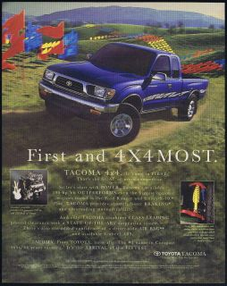 1995 Toyota Tacoma 4X4 Truck Pickup Photo Print Ad