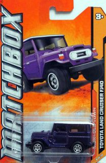 2012 MatchBox #68 Toyota Land Cruiser FJ40 purple with white top