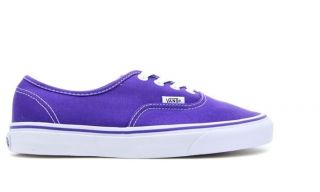 Vans Authentic Classic Purple White Men Women Sneakers VN 0QER6LM Sz4