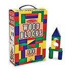 Melissa & Doug 100 Piece Wood Blocks Set Wooden Baby Toy Kids NEW