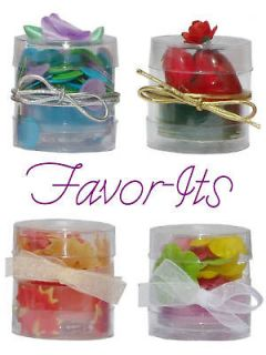 48 Clear Favor Boxes Wedding Bridal Decorations ~ Round Tube Packaging