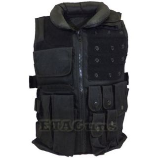 NEW Airsoft Black Tactical Chest Combat Assault Vest Pouch Holster