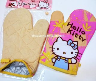 Hello Kitty Oven Glove Kitchen Gardening Cook Mitt Heat Resistant