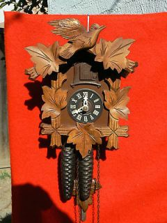 Small Vintage German Black Forest Cuckoo Clock