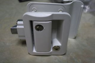 RV Entry Door Lock Handle Knob Deadbolt ,Cargo trailer white