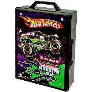 MONSTER JAM 15 TRUCK CAR CARRY STORAGE CASE GRAVE DIGGER TOYS BOYS