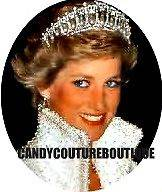 20 WATER SLIDE NAIL DECALS PRINCESS DIANA TIARA