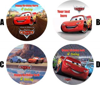 DISNEY CARS/LIGHTNING MCQUEEN CAKE TOPPER DECORATION PERSONALISED