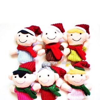 Pcs Finger Family Member Puppet Set Soft Toy childrens Learn Play