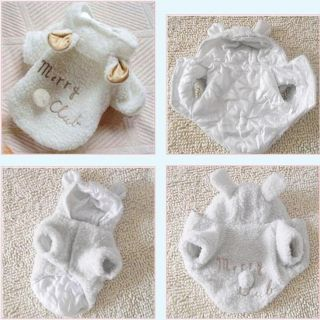 Cute Sheep Warm Pet Dog Clothes Coat Apparel S M L XL